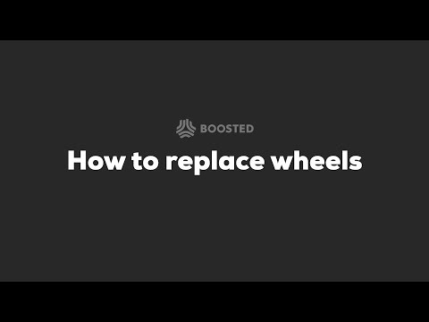 Boosted Boards - 2nd Generation Service Video: How to Replace Wheels