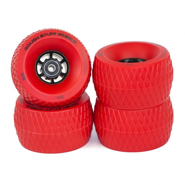 Red Rough Stuff Wheels (Set of 4)