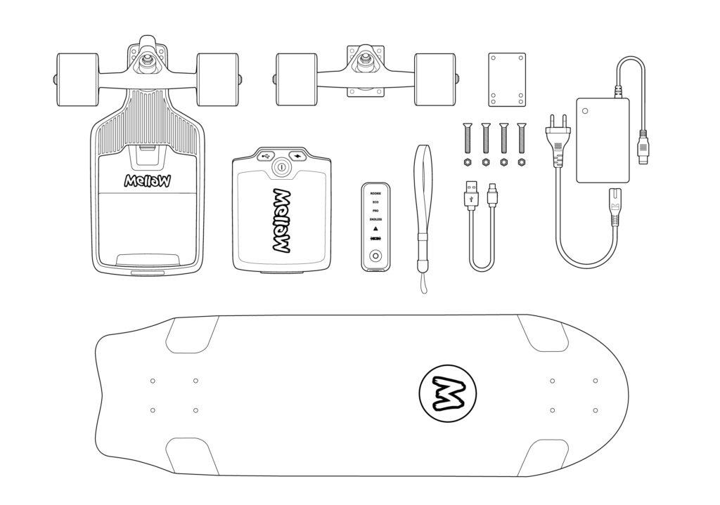 Mellow Board Cruiser + Drive