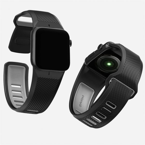 Nomad Apple Watch Sport strap - Slate - Black - Black