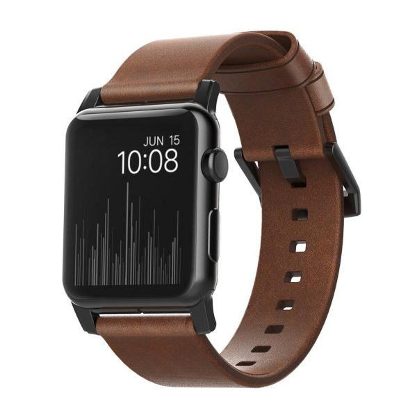 Nomad Apple Watch strap – Modern - Brown - Black