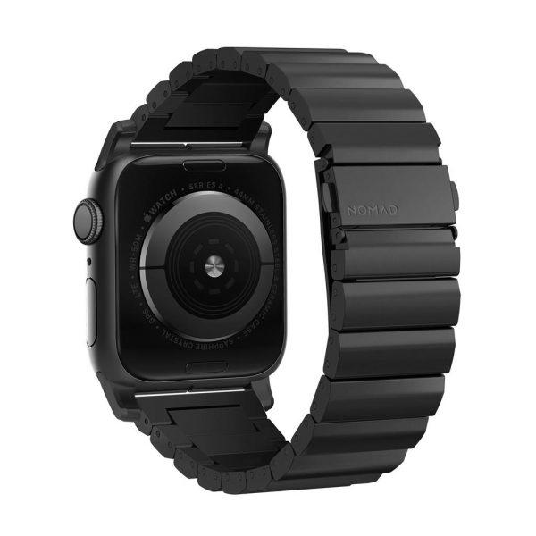 Nomad Apple Watch strap – Titanium – Black – Black