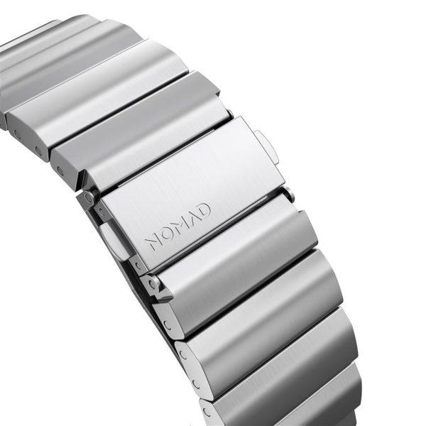 Nomad Apple Watch strap – Titanium – Black – Silver